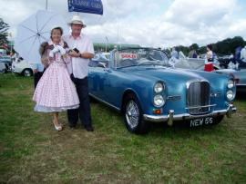 Paul with Alvis TE21 at Goodwood Revival Classic Car event
